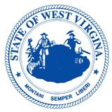 Virginia State Seal occidentale illustration stock