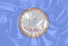 Virginia State Silk Flag Fotografía de archivo libre de regalías