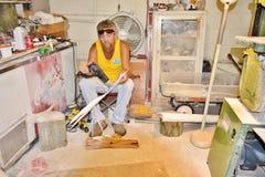 Virginia state usa great egret souvenir craftsmanship Royalty Free Stock Images