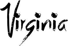 Virginia text sign illustration Stock Photography