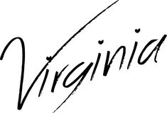 Virginia text sign illustration Stock Photos