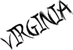 Virginia text sign illustration Stock Image