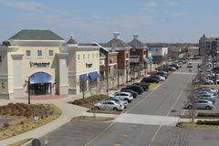 Virginia Town Place Strip Mall royalty free stock photography