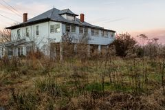 Huge Abandoned Mansion House in Virginia royalty free stock image