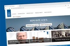 Sveriges Riksbank Riksbanken, the central bank of Sweden website homepage website homepage royalty free stock photography