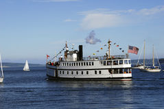 Virginia v. Steamship virginia v at port townsend Royalty Free Stock Photo
