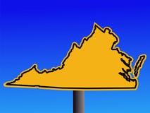 Virginia warning sign Stock Image