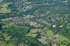 Virginia Water, Surrey, visión aérea Fotografía de archivo libre de regalías