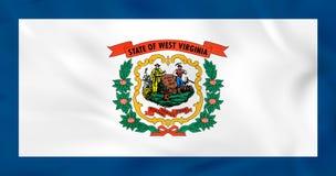 Virginia Waving Flag del oeste Textura del fondo de la bandera del estado de Virginia Occidental ilustración del vector