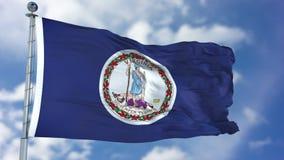Virginia Waving Flag royalty free stock photos