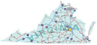 Virginia-zwischenstaatliche Karte Stockfoto