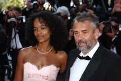 Virginie Silla et Luc Besson Image libre de droits