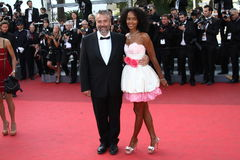 Virginie Silla and Luc Besson Stock Images