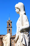 Virgins vestal в римском форуме, Рим в Италии стоковое фото rf