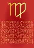 virgo приветствию карточки Стоковое Фото