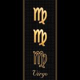 virgo символов horoscope Стоковые Изображения RF
