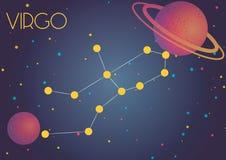 Virgo созвездия Стоковая Фотография