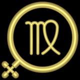 Virgo 001 dello zodiaco Immagini Stock