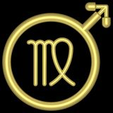 Virgo 002 do zodíaco Imagem de Stock Royalty Free