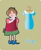 Virgo. Collection of 12 children horoscopes and characters Royalty Free Stock Photography