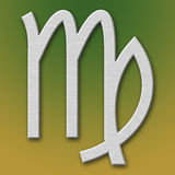 Virgo Aluminum Symbol. On background degraded royalty free illustration