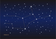 Virgo constellation Royalty Free Stock Photo