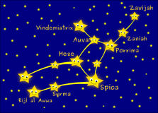 Virgo constellation Stock Photography