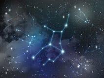 Virgo constellation star Zodiac Stock Photography