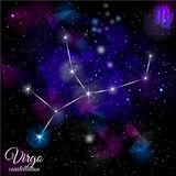 Virgo Constellation With Triangular Background. Stock Photography