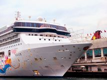 Virgo Cruise ship In the Victoria Harbor Royalty Free Stock Photography