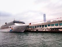 Virgo Cruise ship In the Victoria Harbor Stock Photography