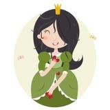 Virgo cute horoscope. Royalty Free Stock Photography
