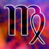 Virgo de la muestra de la astrología stock de ilustración