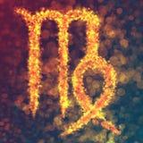 Virgo horoskopu znak Ilustracji