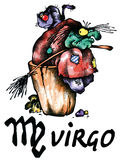 Virgo illustration Royalty Free Stock Photography