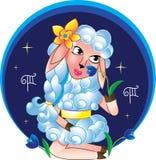 Virgo jako cakiel z kwiatem Zdjęcia Stock
