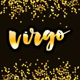 Virgo lettering Calligraphy Brush Text horoscope Zodiac sign illustration. Virgo lettering Calligraphy Brush Text horoscope Zodiac sign stock illustration