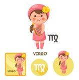 Virgo vector collection. zodiac signs Royalty Free Stock Photography