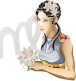Virgo the Virgin star sign royalty free illustration