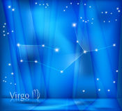 Virgo Zodiac Background Stock Image