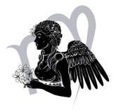 Virgo zodiac horoscope astrology sign Stock Image
