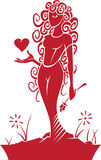 Virgo Zodiac/Horoscope Symbol Stock Image