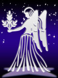 Virgo zodiac sign. Virgo greeting card of zodiac sign Royalty Free Stock Photography