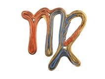 Virgo Zodiac Sign. Abstract metal symbol. 3D. Rendering Stock Photos
