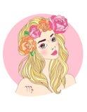 Virgo zodiac sign as a beautiful girl Stock Image