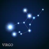 Virgo Zodiac Sign of the Beautiful Bright Stars Royalty Free Stock Photo
