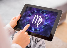 Virgo zodiac sign Stock Photo