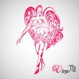 Virgo Zodiac Sign. Vector illustration of Virgo Zodiac Sign royalty free illustration