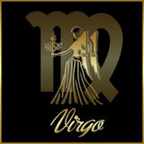 Virgo zodiac star sign. Background of virgo sign for horoscope vector illustration
