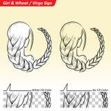 Virgo Zodiac Star Sign Sketch Stock Photography